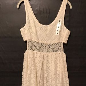 Zumiez off white lace dress
